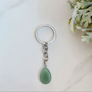 3/$30 Green adventurine keychain
